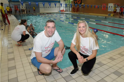Becky Joined By Steve Parry To Support Local Leisure Centres Becky Adlington Training Academy